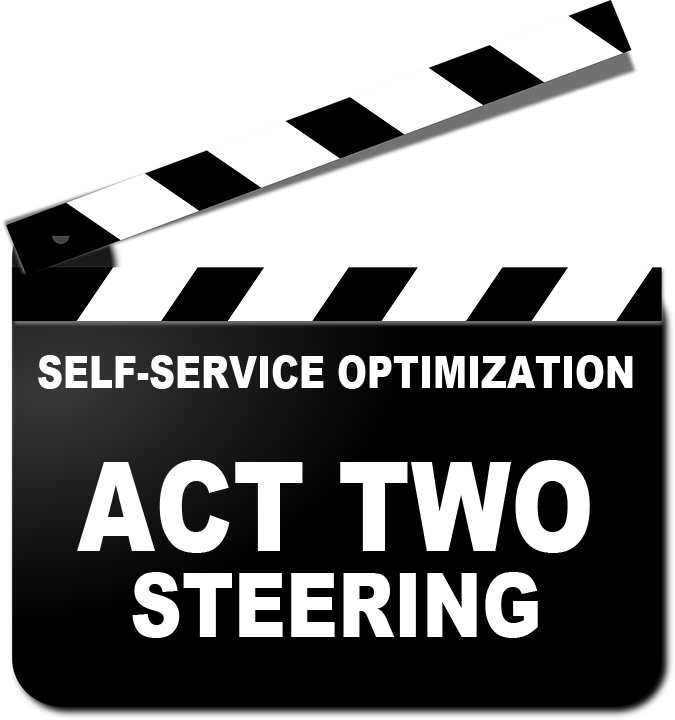 Self-Service Optimization Required, Not Optional (Act 2 of 3 – Steering)