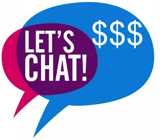 Using chat apps for payments